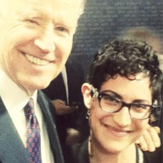 Shira, twelve years later with Vice-President Biden - From Idaho Wilds to Washington Wilds