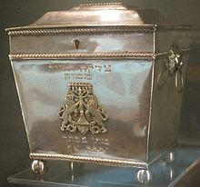 Tzedakah box (Pushke), Charleston, 1820, silver, National Museum of American Jewish History.