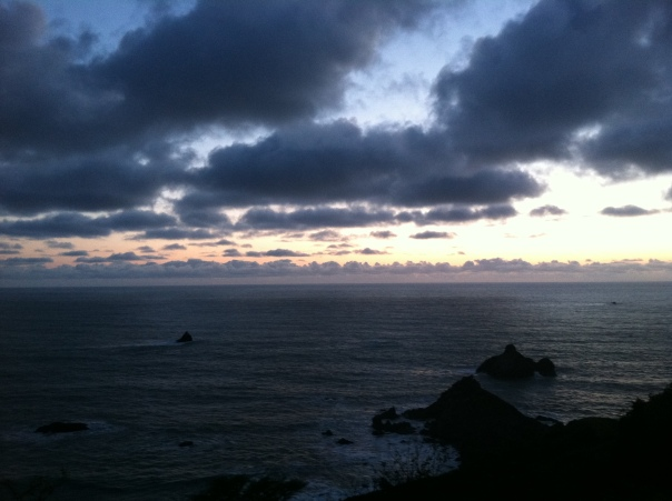photo by Nicole Barchilon Frank May 5, 2012, Pacific Ocean around sunset