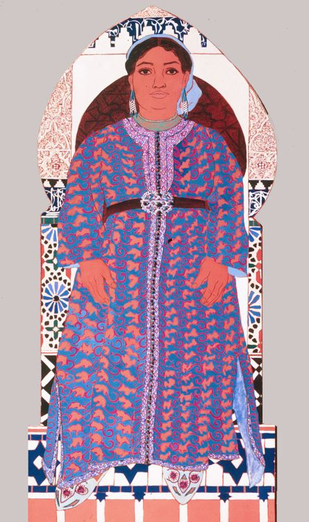 Fatima Cut Out by Helen Redman from her Moroccan Women series