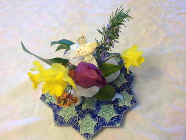 Paul Barchilon's Ceramic Plate with flowers from Nicole's Garden