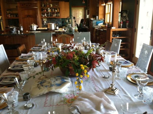 Pesach Table at the Feldman Home 2012