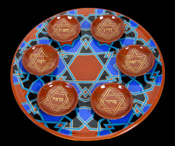Seder Plate by Paul Barchilon