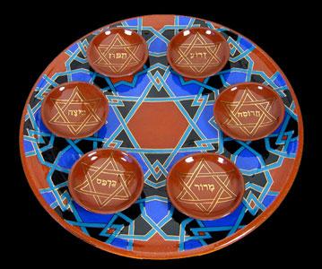 Seder Plate by Paul Barchilon