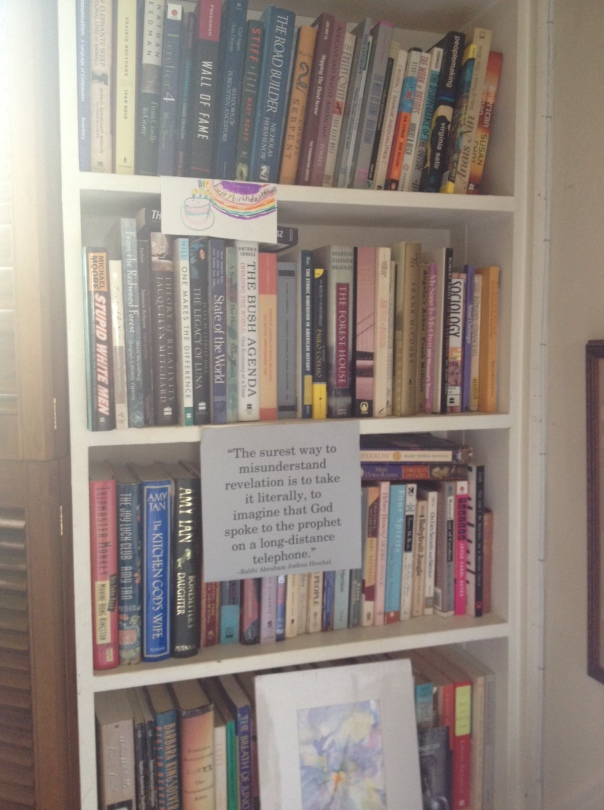 Bookshelf Heschel quote