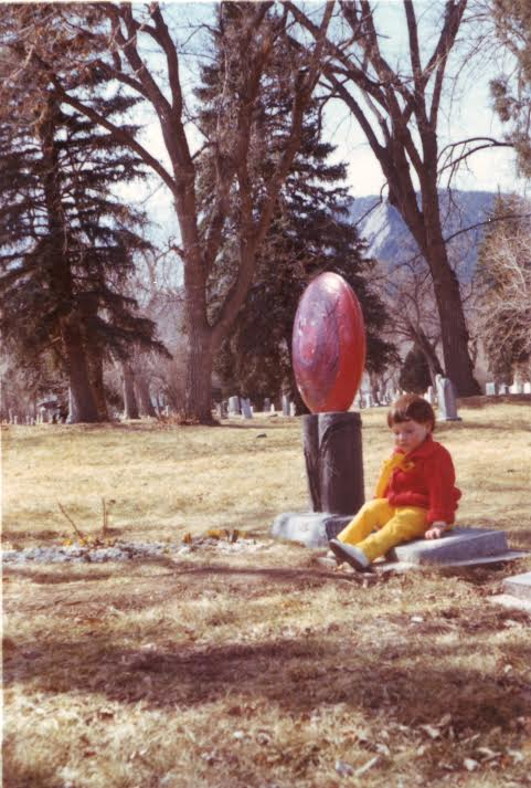 Me, at the age, my sister Paula, died next to her grave in Boulder Colorado