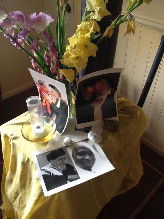 Photos of my Rebbe, Flowers from my Garden and the Seven Day Candle