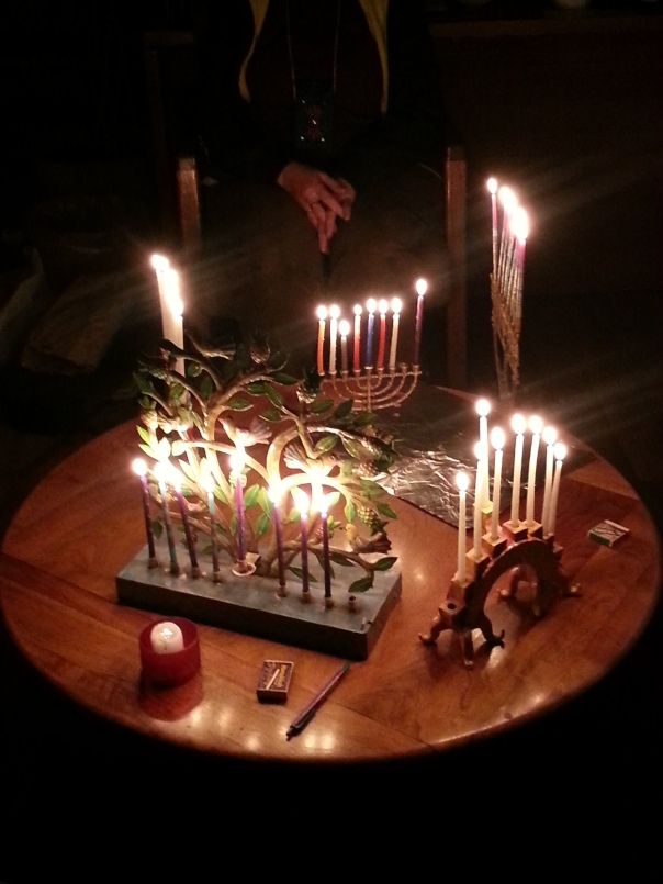 Hanukkah candles burning so beautifully. Picture by Nymiah Eliyahu