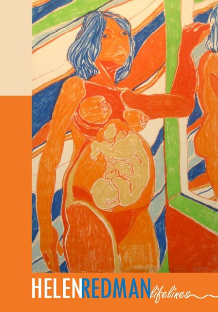"Catalogue cover: Maternal Echo, oil pastel, 43"" x 30"", 1964"