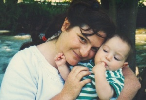 Ethan and his Mommy, summer of 1997
