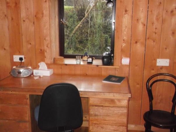 My soon to be view from the desk, where I will be writing, writing, writing!