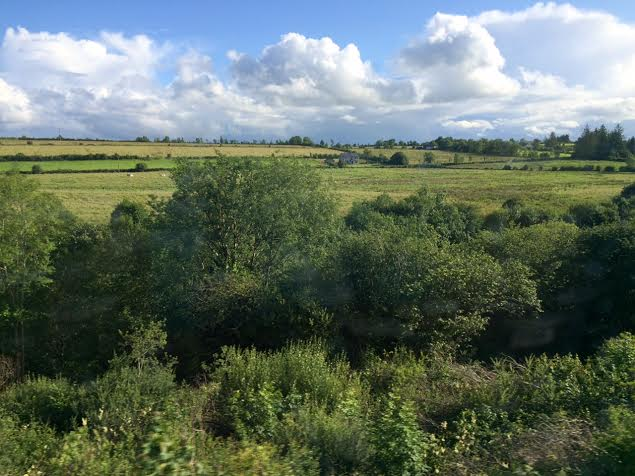 Heavenly View from my train ride between Dublin and .....