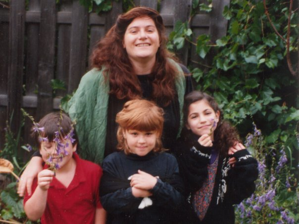 Roxy, Issac, Shira with Mama Nicole in Boulder Colorado, Summer of 1991