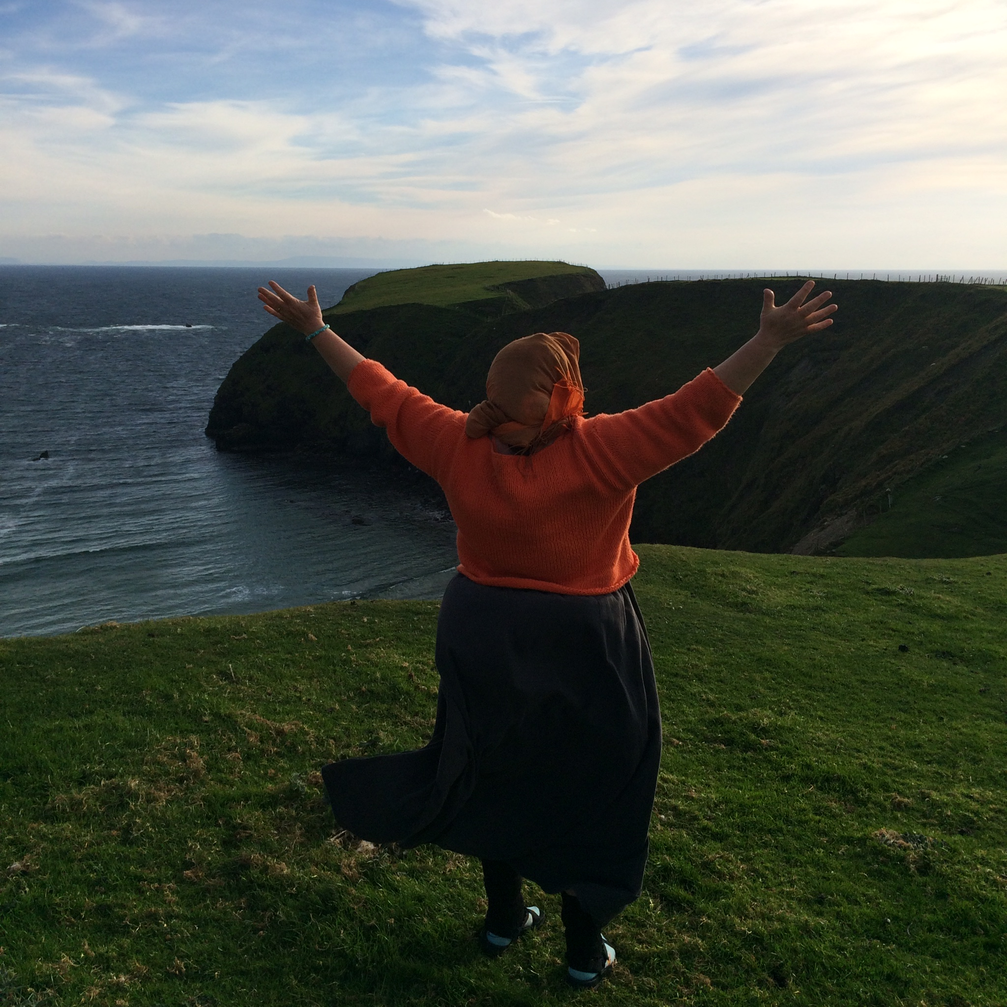 Singing to the Ocean, the Cliffs and the Wind in County Donegal, Ireland