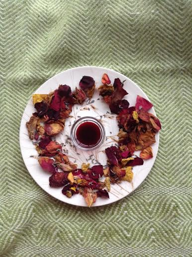 Elderberry syrup and roses