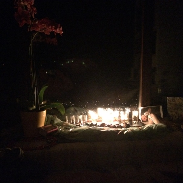 Fifth night Hannukah with Orchid